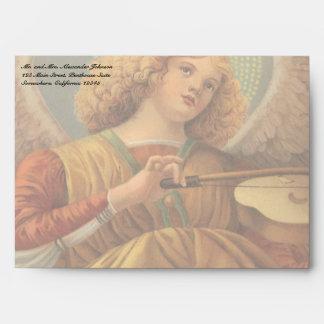 Christmas Angel Playing Violin Melozzo da Forli Envelopes