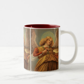 Christmas Angel Playing Violin Melozzo da Forli Two-Tone Coffee Mug