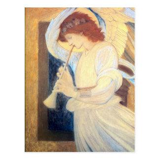 Christmas Angel Postcards Burne-Jones Gold White