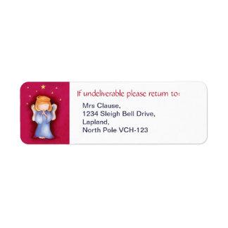 Christmas angel return address labels