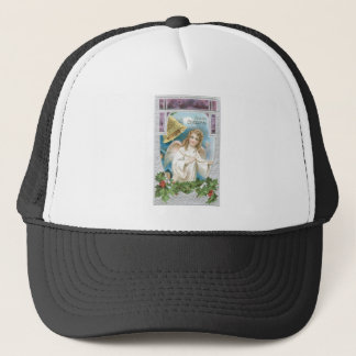 Christmas Angel ringing a bell Trucker Hat