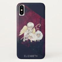 Christmas Angel Shepherd with Lambs iPhone XS Case