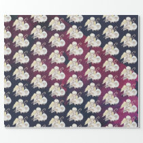 Christmas Angel Shepherd with Lambs Pattern Wrapping Paper