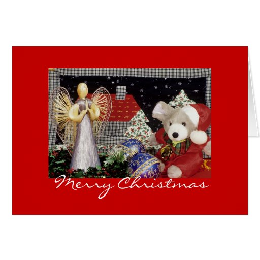 Christmas Angel, Teddy Bear, Christmas Cards