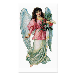 """Christmas Angel"" Vintage Gift Tag Double-Sided Standard Business Cards (Pack Of 100)"
