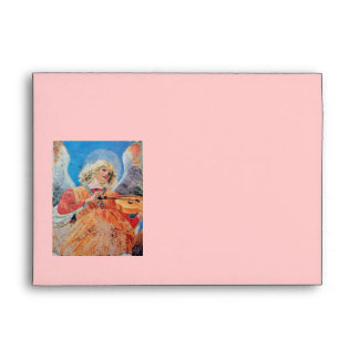 CHRISTMAS ANGEL white blue red pink Envelope