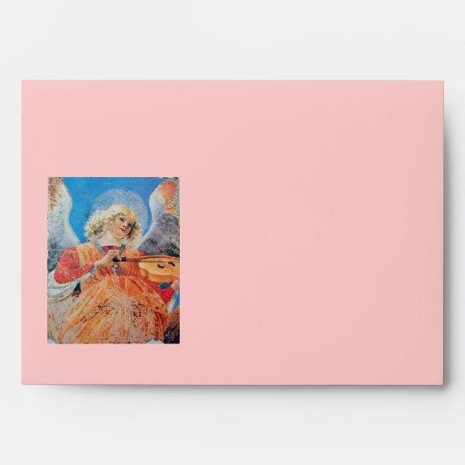 CHRISTMAS ANGEL white blue red pink Envelopes