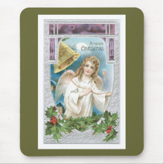 Christmas Angel with Bell Mouse Pad