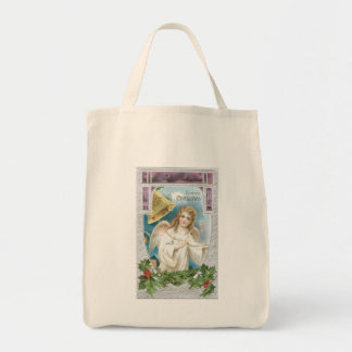 Christmas Angel with Bell Tote Bag