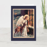 Christmas Angel With Deer Card