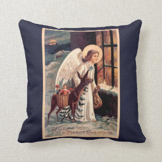 Christmas Angel With Deer Pillow