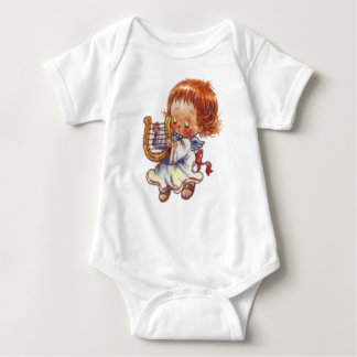 Christmas Angel with Harp Baby 6 -24 months Baby Bodysuit