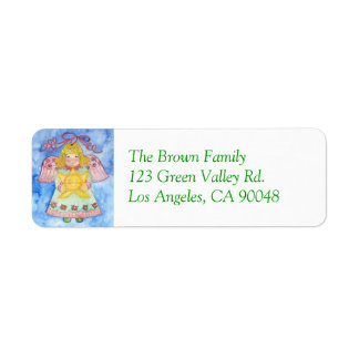 Christmas Angel with Star Address Label