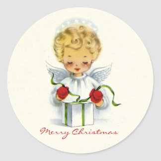 Christmas Angel Wrapping Gift Sticker