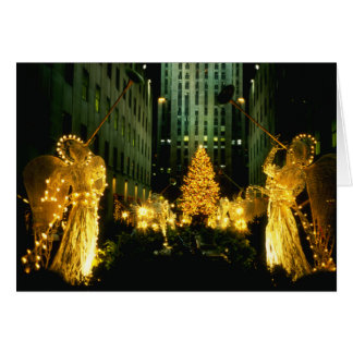 Christmas Angels and Tree Greeting Card