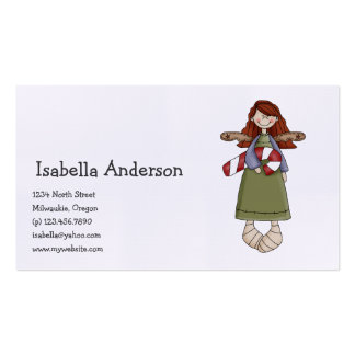 Christmas Angels · Angel & Candy Cane Business Card