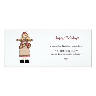 Christmas Angels · Angel & Candy Cane Card