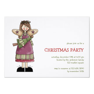 Christmas Angels · Angel & Christmas Tree Personalized Invite