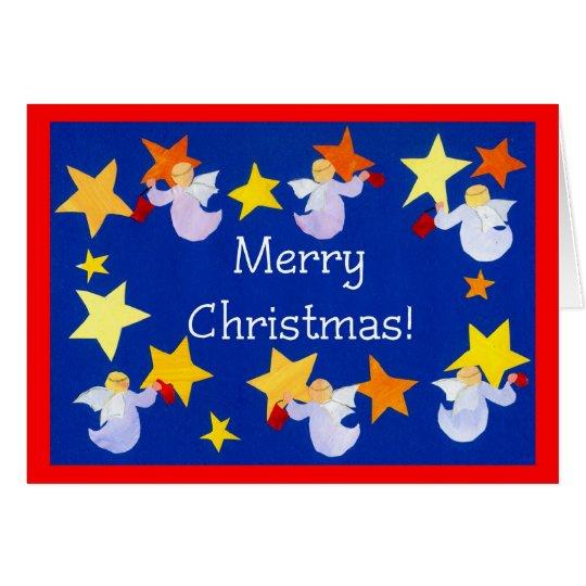 Christmas Angels Card, English Card