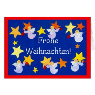 Christmas Angels Card, German Greeting Card