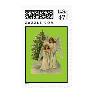 Christmas Angels Holiday Stamp
