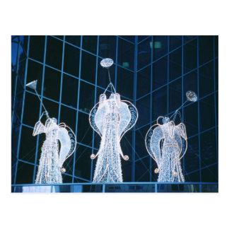 Christmas Angels in Rockefeller Center Postcard