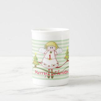Christmas Angels Merry Chrisymas text Mug