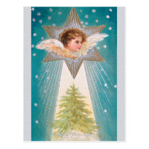 CHRISTMAS angels, Nativity Postcard