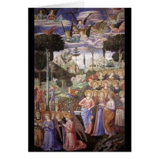 Christmas - Angels Worshipping Card