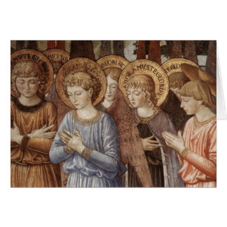 Christmas - Angels Worshipping Close Up Greeting Cards