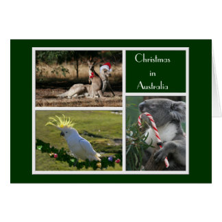 Christmas Animals Aussie Style - Personalizable Greeting Card