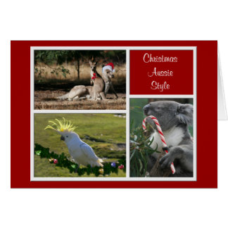 Christmas Animals Aussie Style - Personalizable Greeting Cards