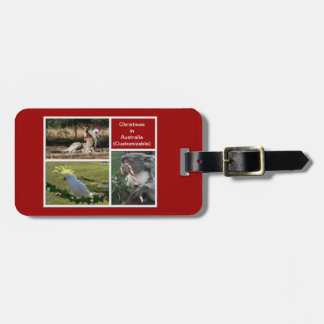 Christmas Animals Aussie Style - Personalizable Bag Tag