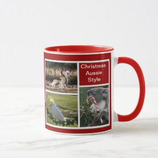 Christmas Animals Aussie Style - Personalizable Mug