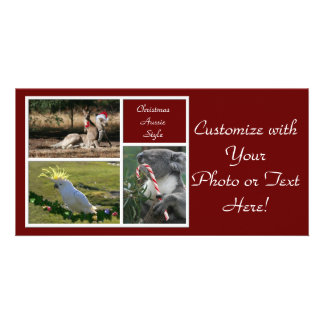 Christmas Animals Aussie Style - Personalizable Photo Card