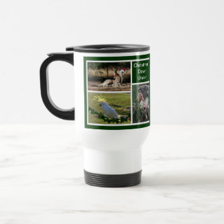 Christmas Animals Aussie Style - Personalizable Travel Mug