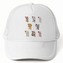 Christmas Animals Many Cute Animals For Christmas Trucker Hat