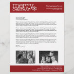 """Christmas - Annual Holiday Family Letter Letterhead<br><div class=""""desc"""">Are you looking for Christmas Paper for your annual letter? Here it is!</div>"""