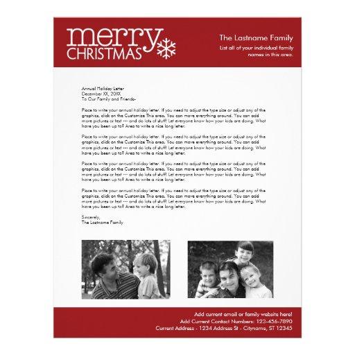 christmas letter templates .