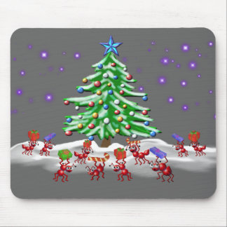Christmas Ant-ticipation Mouse Pad