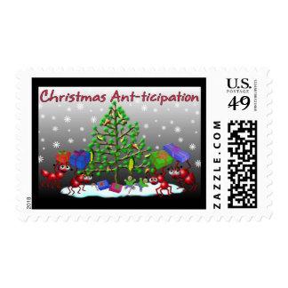 christmas ants postage stamp
