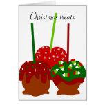 Christmas apples blank card
