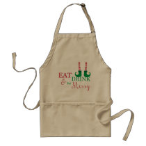 Christmas Apron- Holiday Gift or Decoration Adult Apron