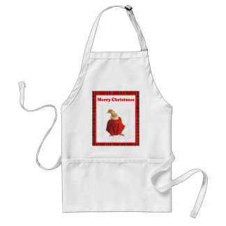 Christmas Apron, Ideal Gift for Holiday Hostess Adult Apron