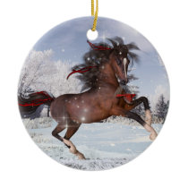 Christmas Arabian Horse Ornament