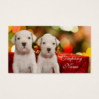 Christmas Argentine Dogo puppies Business Card