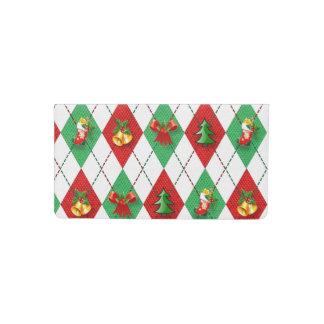 Christmas Argyle Checkbook Cover