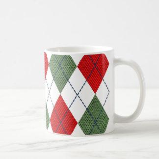 Christmas Argyle Coffee Mug