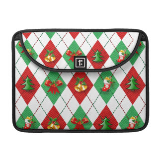 Christmas Argyle Decorated Sleeve For MacBook Pro
