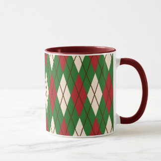 Christmas Argyle Mug